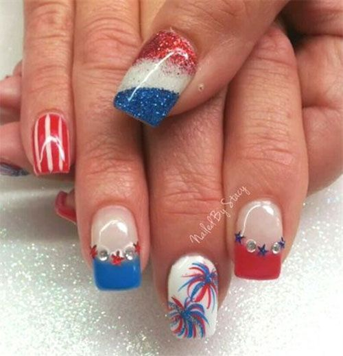 18 Awesome of July Fireworks Nail Art Designs 2016 - The 25+ Best Firework Nails Ideas On Pinterest Firework Nail Art