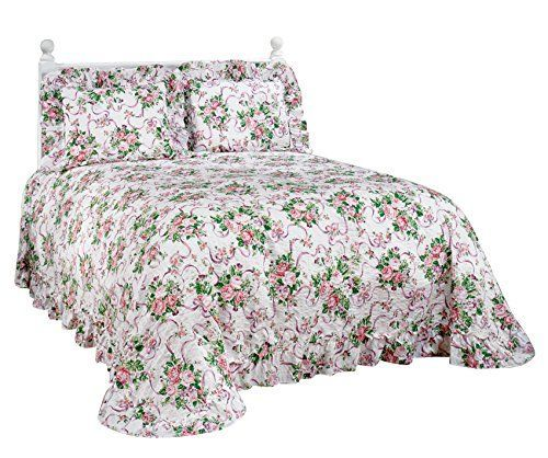 Ribbons and Roses Plisse Bedding Miles Kimball