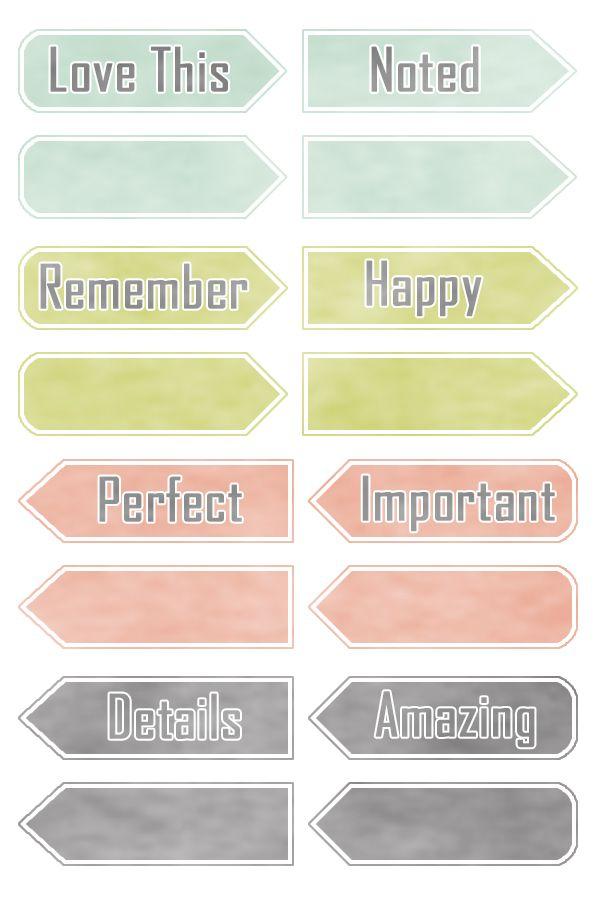 Arrow Labels - Freebie In The Pocket Design