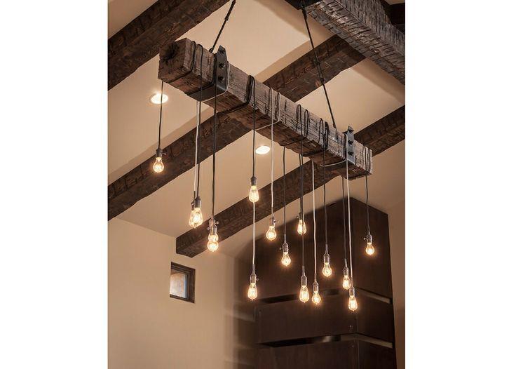 Luminaire recup luminaires pinterest poutres id es et bricolage - Pinterest bricolage recup ...