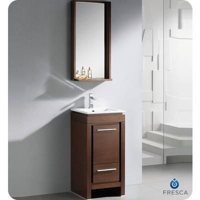 Fresca Allier Small Wenge Brown Modern Bathroom Vanity With Mirror Fvn8118wg Home Depot