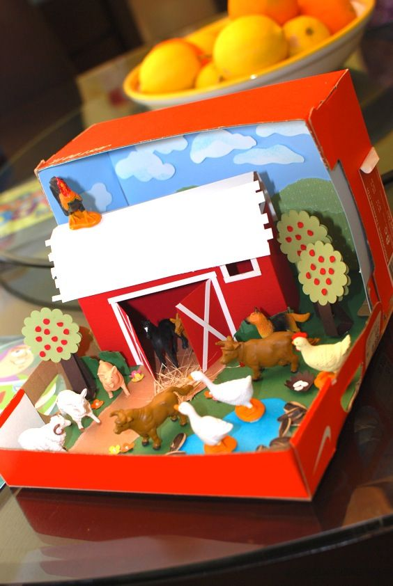 Barn Diorama | For more homeschool resources check Table Top Teaching @ www.t3hea.com