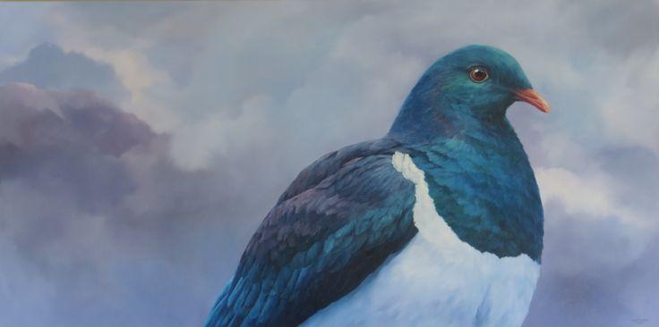 NZ Wood Pigeon-Kereru  Oil on canvas  1500x1000mm