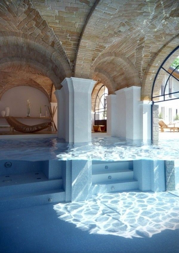 IndoorOutdoor swimming and recreation space that is
