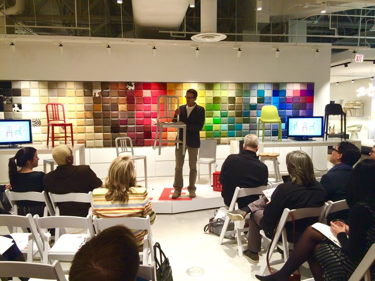 Emecos CEO Gregg Buchbinder Talks Authenticity Using The Iconic 111 Navy Chair At DWR Chicago