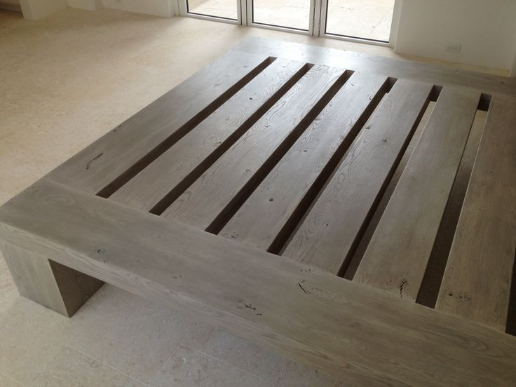 Solid White Oak Pedestal Bed Frame Made For A Home Owner
