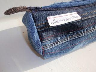 alles-vanellis: Denim naaiwerk van oude spijkerbroek