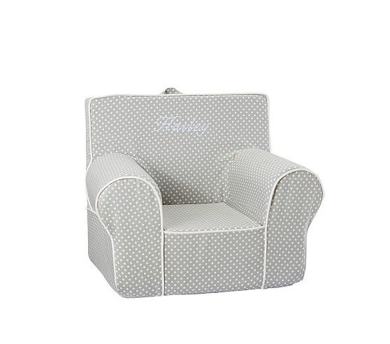 gray mini dot with white piping anywhere chair pottery barn kids nursery pinterest. Black Bedroom Furniture Sets. Home Design Ideas