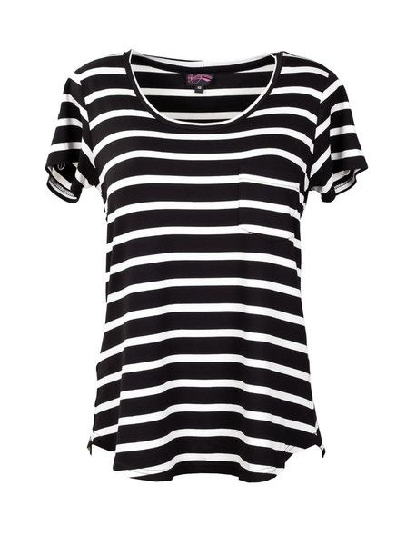 Breastfeeding T-Shirt | Black & White Stripe  #blackandwhitestripe #breastfeedingshirt #nursingtop #breastfeeedingclothes #breastfeedingtops #breastfeedingattire #breastfeedingoutfits #breastfeedingsupport  #breastfeedingstyle #workingmoms #breastfeedingmoms #nursingmoms #postpartumclothing #peachymama #Australia