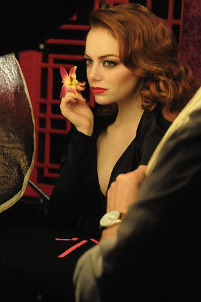 Emma Stone's New Revlon Campaign. Doing a presentation on this! :)