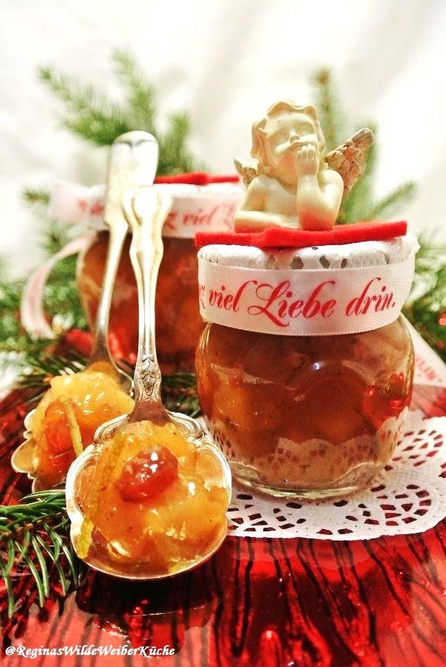 Bratapfel Marmelade mit einem Hauch Thymian und karamellisierten Orangen-&Zitronenzesten