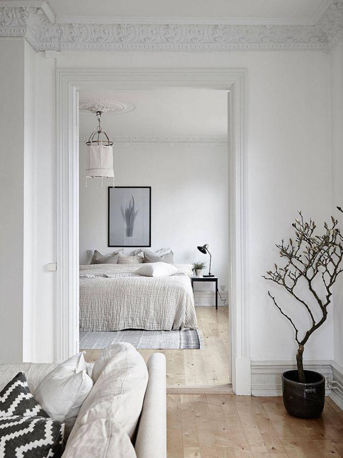 Dormitorio sueco / Un apartamento nórdico para gente muy casera #hogarhabitissimo