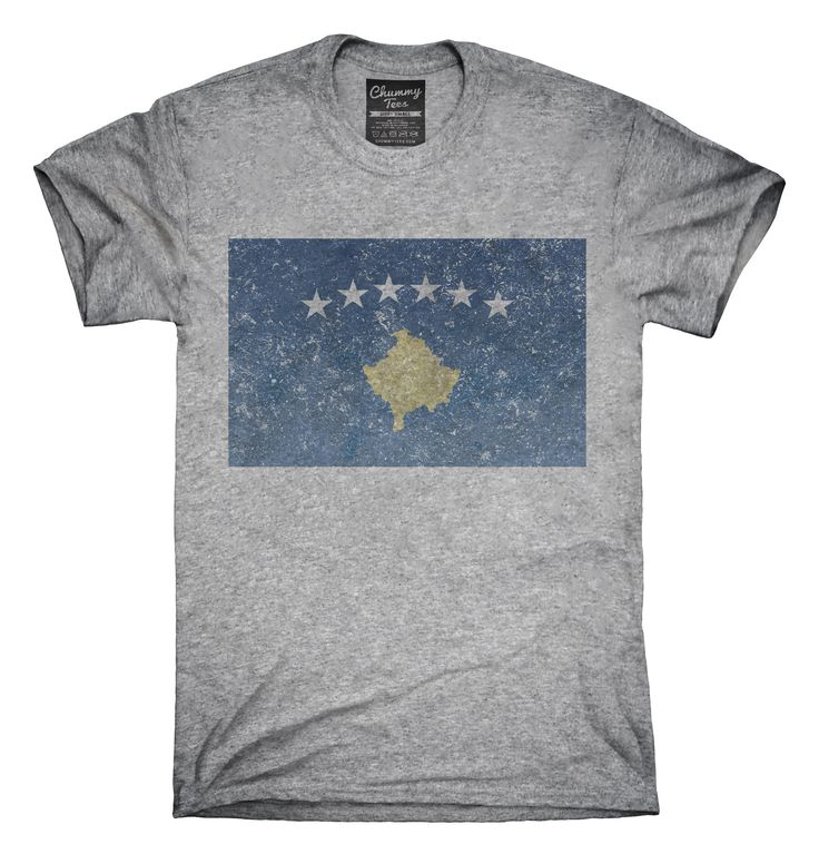 Retro Vintage Kosovo Flag T-Shirts, Hoodies, Tank Tops