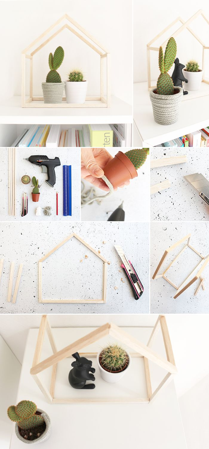 Do it yourself: Make your own balsa plant house yourself.