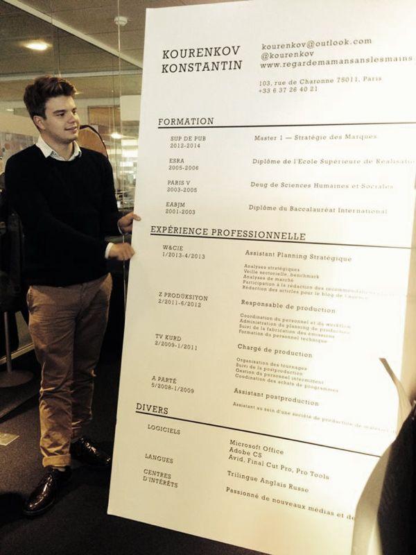Lu0027agence Marcel reoit un CV gigantesque