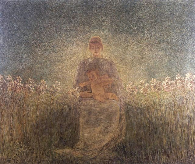 Gaetano Previati (1852-1920), Madonna dei Gigli.