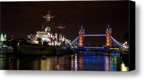 Tower Bridge and HMS Belfast Canvas Print / Canvas Art - Artist Dawn OConnor by Fine Art America, http://www.amazon.com/gp/product/B009LAKAGO/ref=cm_sw_r_pi_alp_tfOOqb1EC6C8A
