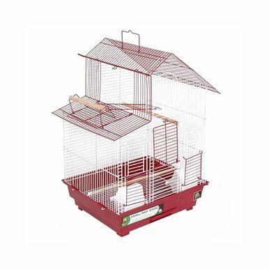 Prevue Hendryx House Style Front Drop Down Door And Top Side Playpen Door Bird House, Color - Red