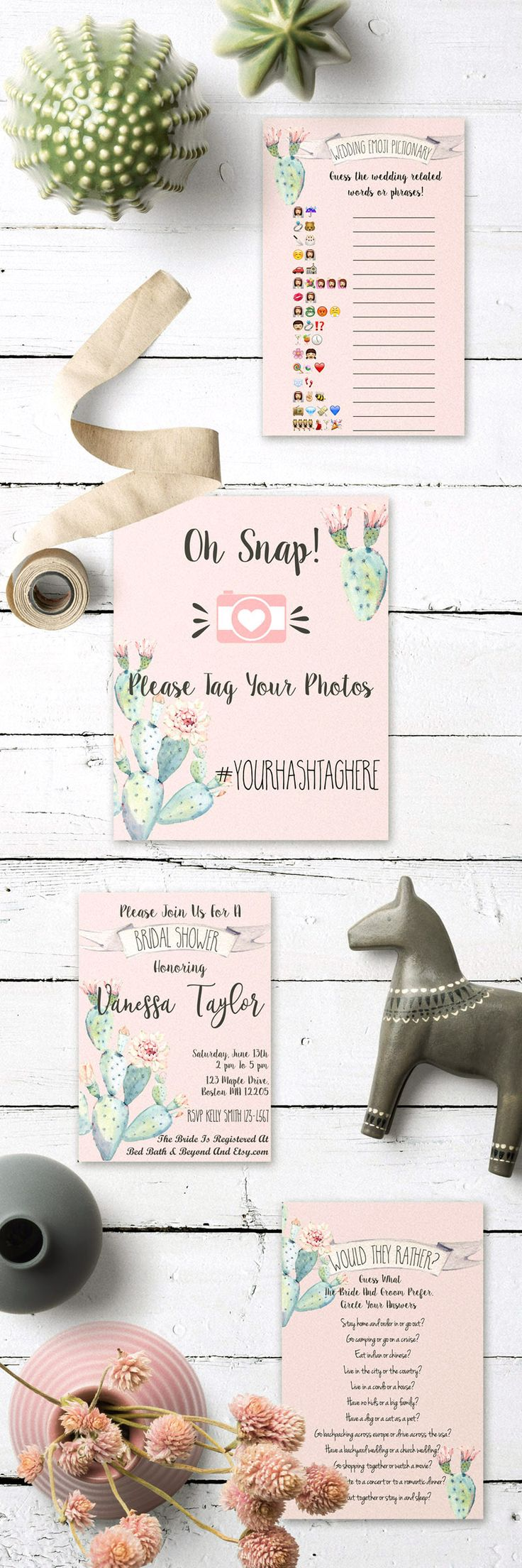 wedding shower game ideas pinterest%0A get these beautiful succulent themed bridal shower games and bridal shower  signs and decor in my