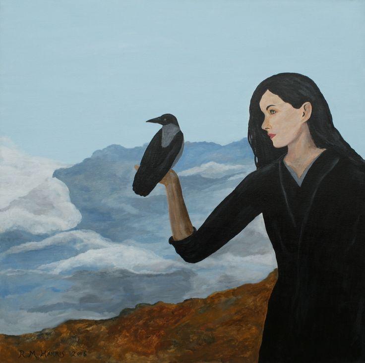 "Contemporary Painting - ""The Morrigan"" (Original Art from Robert Harris)"