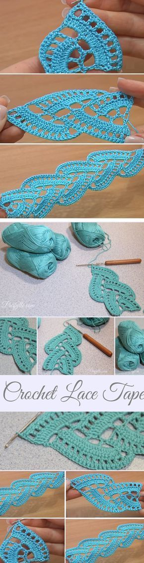Stripy Lace Crochet Tutorial
