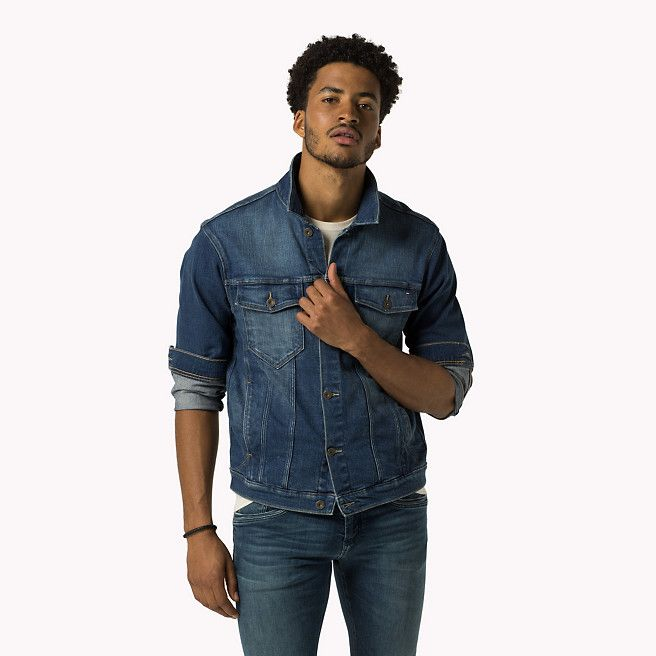 Tommy Hilfiger Denim Western Jacket - berry mid blue stretch (Blue) - Tommy Hilfiger Jackets - immagine principale