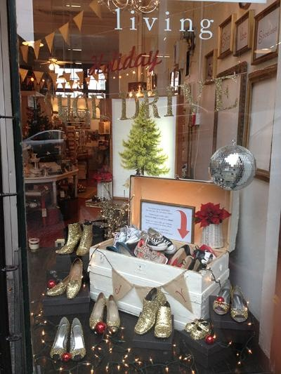 """Shoe the Shoeless"" Holiday Shoe Drive! at Brick & Mortar Living."