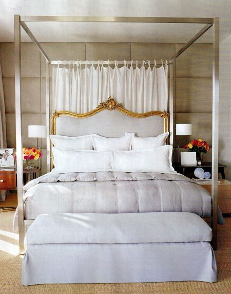 Vicente Wolf headboardDecor, Ideas, Four-Post, Dreams, Headboards, Vicente Wolf, Master Bedrooms, Beds Frames, Canopies Beds