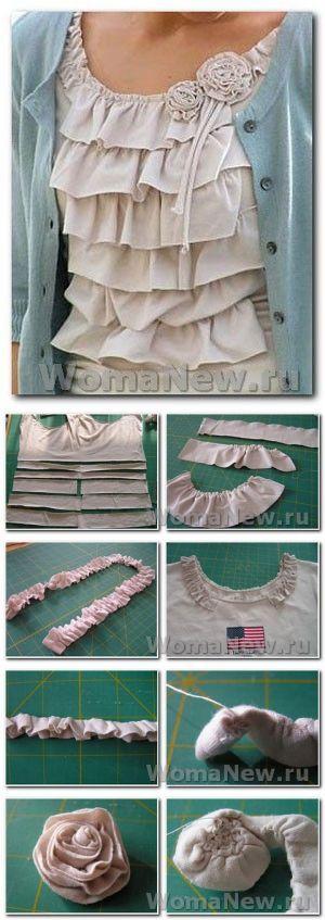 Как переделать майку | WomaNew.ru - уроки кройки и шитья!