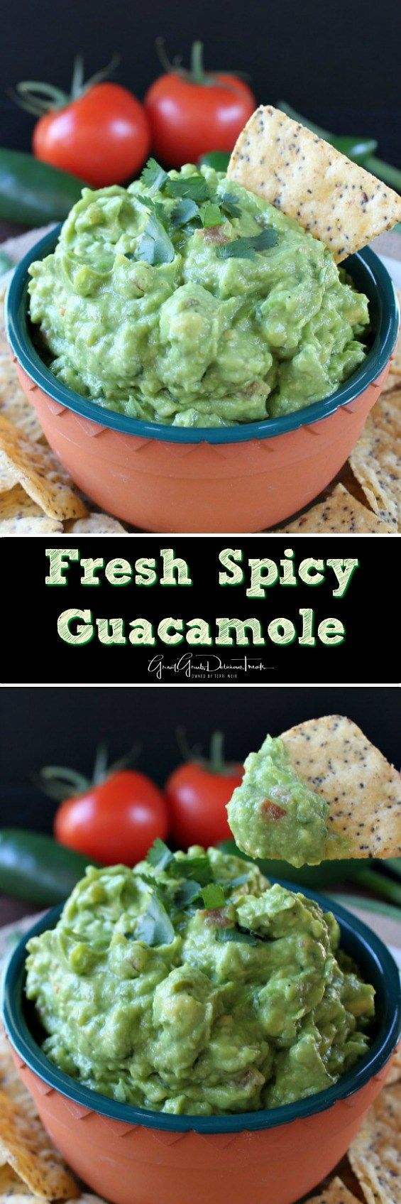 Fresh Spicy Guacamole - Here is an amazing vegan spicy guacamole recipe that tastes delicious and is on the healthy side. Made with the freshest ingredients
