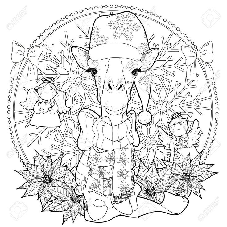 36+ Christmas giraffe coloring pages ideas in 2021