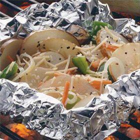 Parmesan Potato & Carrot Bundles Recipe from Land O'Lakes