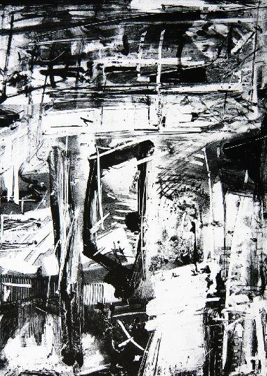 Emilio Vedova. Imminente 4, 1977