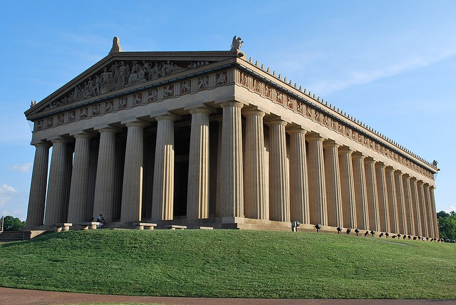 Parthenon, Nashville. Opened in 1897 as part of Tennessee's Centennial and is a full scale replica of the original Parthenon.