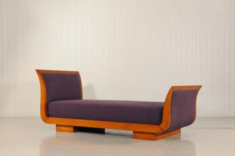Jean ROYERE Daybed in oak wood, France, 1940