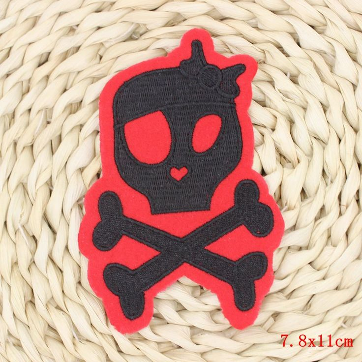 Cheap patch pain, Buy Quality patch 2 directly from China patch fabric Suppliers: Clothes Patches Apparel Sewing Applique 1Pcs Punk Sew On Patches Skull With Black Butterfly Embroidery patches For Garment DIY