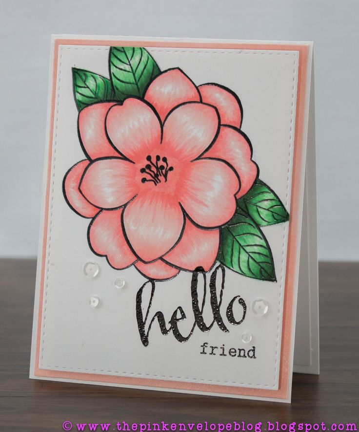 Such a Pretty  card created by Cynde Whitlow using the Big Bloom Stamp created by Winnie and Walter Exclusively for Simon Says Stamp