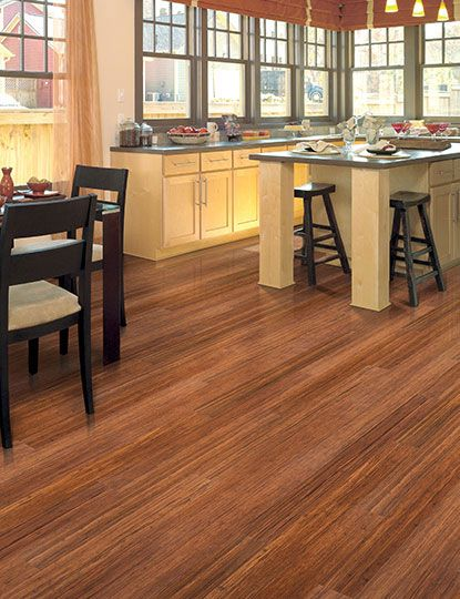 Renew And Restore Collection Horizontal Harvest Home Legend Bamboo Flooring In Kitchen