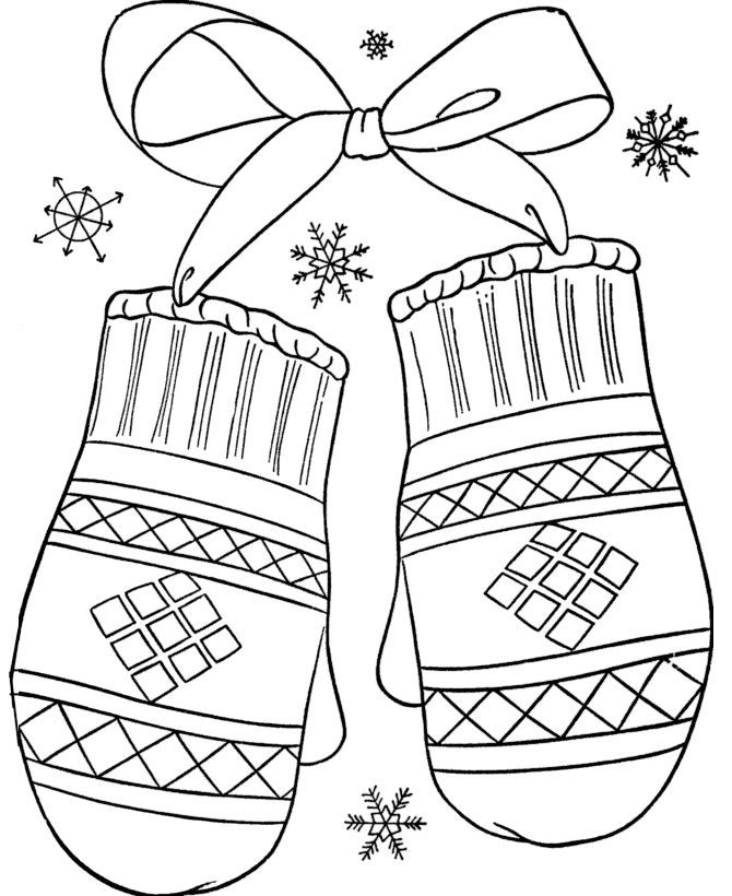 Winter Mitten Coloring Page In 2020 Coloring Pages Winter Printable Christmas Coloring Pages Free Coloring Pages