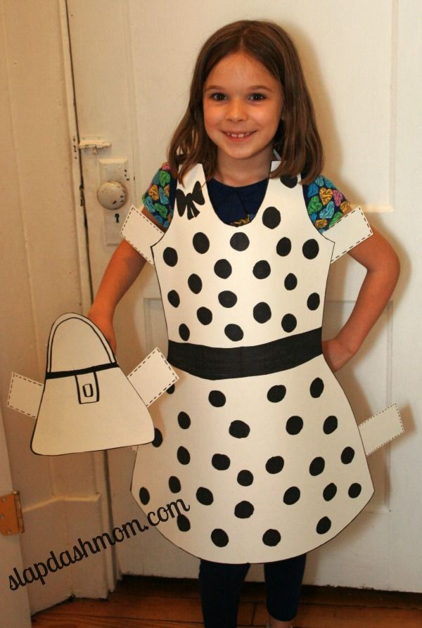 $1 DIY Paper Doll Costume Tutorial