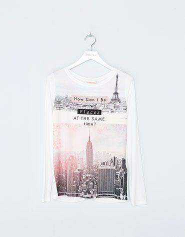 Bershka España -Camiseta BSK estampado ciudades