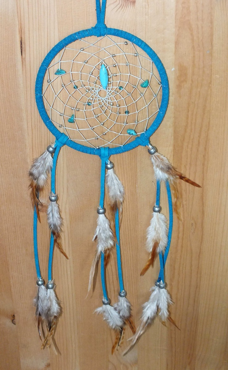 A Native American Map%0A Turquoise Skies Native American Inspired   inch dreamcatcher