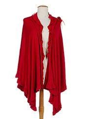 Marble Ponchos Femme de couleur rouge en soldes pas cher 810783-rouge0 - Modz
