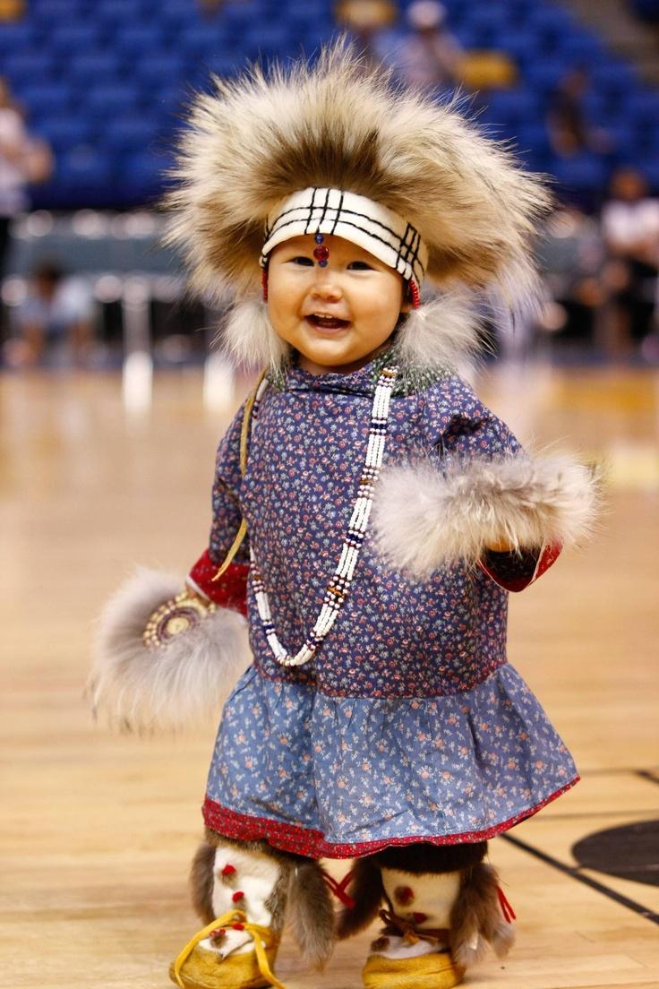 The cutest Yupik Eskimo/Athabaskan Indian wearing traditional Yupik clothing used for Eskimo dancing. - Imgur