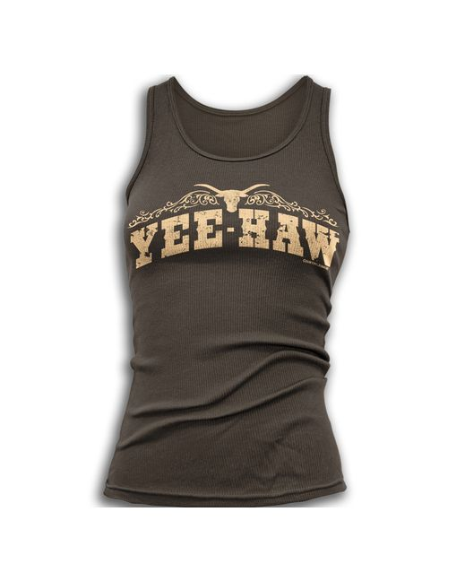 Country Junkie Nation - Women's Yee Haw Tank Top - Brown  http://www.countryoutfitter.com/products/73692-womens-yee-haw-tank-top-brown?lhs=u_p_p_n_a&lhb=MP&lhc=womens_apparel&lhg=country_junkie_nation_yee_haw&utm_source=pinterest&utm_medium=social