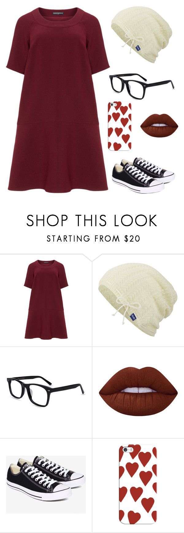 """The Hipster Look"" by emma-be-awesome ❤ liked on Polyvore featuring Manon Baptiste, Keds, Lime Crime, Converse, Casetify and plus size dresses"