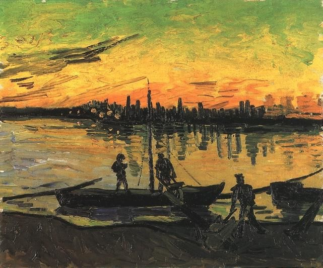 Vincent Van Gogh >> Coal Barges 2