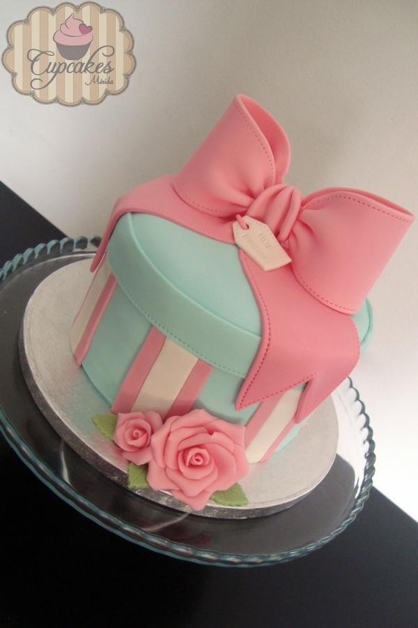 Pastel caja de regalo, hermoso, simplememnte lo ame