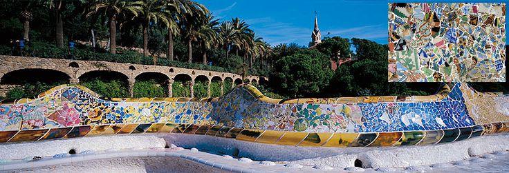 Mozaïek Park Guell - Van delen naar één geheel
