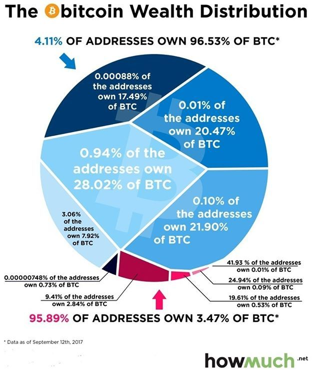 Here are some fairly current numbers of wealth distribution!  Want to learn more about Bitcoin + Alt Coins... The link in our BIO is a course from udemy and is on sale! #crypto #cryptocurrency #infographic #learnbitcoin #litecoin #verge #vergecoin #ethereum #ripple #tron #investing #bitcoin #bitcoininformation #stellar #blockchain #bitcoinmining #news #time #market #btc #price #today #bubble #currency #bitcoinprice #coinbase #bitcoincash #exchange #buybitcoin #futures